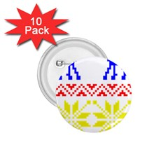 Jacquard With Elks 1.75  Buttons (10 pack)