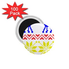 Jacquard With Elks 1 75  Magnets (100 Pack)