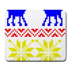 Jacquard With Elks Large Mousepads