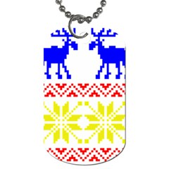 Jacquard With Elks Dog Tag (One Side)