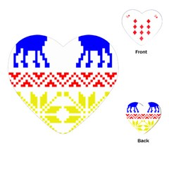 Jacquard With Elks Playing Cards (heart)
