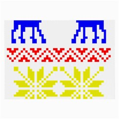 Jacquard With Elks Large Glasses Cloth