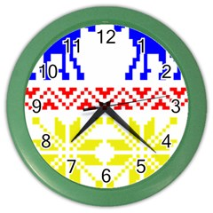 Jacquard With Elks Color Wall Clocks