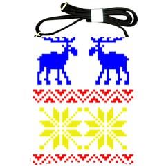Jacquard With Elks Shoulder Sling Bags