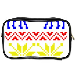 Jacquard With Elks Toiletries Bags