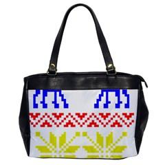 Jacquard With Elks Office Handbags