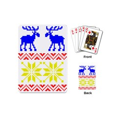 Jacquard With Elks Playing Cards (mini)