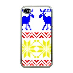 Jacquard With Elks Apple iPhone 4 Case (Clear)