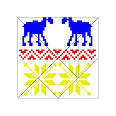 Jacquard With Elks Acrylic Tangram Puzzle (4  X 4 )