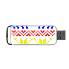 Jacquard With Elks Portable Usb Flash (two Sides)