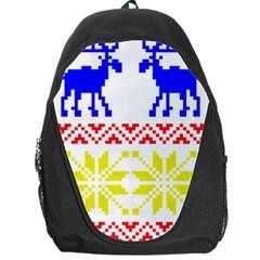 Jacquard With Elks Backpack Bag