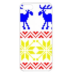 Jacquard With Elks Apple Iphone 5 Seamless Case (white)