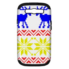 Jacquard With Elks Samsung Galaxy S Iii Hardshell Case (pc+silicone)
