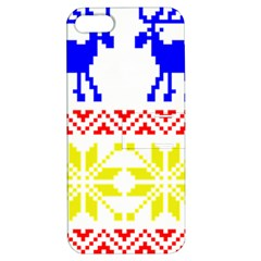 Jacquard With Elks Apple Iphone 5 Hardshell Case With Stand