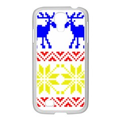 Jacquard With Elks Samsung Galaxy S4 I9500/ I9505 Case (white)