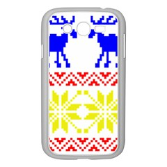 Jacquard With Elks Samsung Galaxy Grand Duos I9082 Case (white)