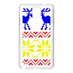 Jacquard With Elks Samsung Galaxy Note 3 N9005 Case (White)