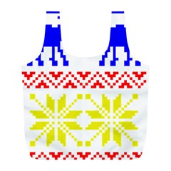 Jacquard With Elks Full Print Recycle Bags (l)