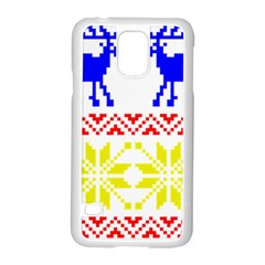 Jacquard With Elks Samsung Galaxy S5 Case (white)