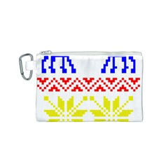 Jacquard With Elks Canvas Cosmetic Bag (s)