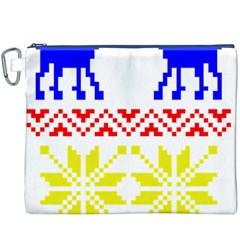 Jacquard With Elks Canvas Cosmetic Bag (XXXL)