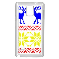 Jacquard With Elks Samsung Galaxy Note 4 Case (white)