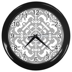 Mosaic Pattern Cyberscooty Museum Pattern Wall Clocks (Black)