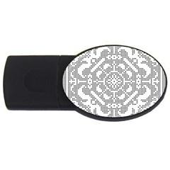 Mosaic Pattern Cyberscooty Museum Pattern USB Flash Drive Oval (1 GB)