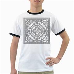 Mosaic Pattern Cyberscooty Museum Pattern Ringer T Shirts