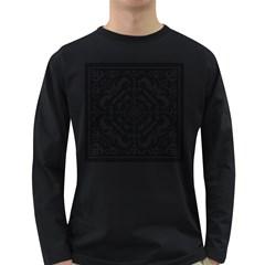 Mosaic Pattern Cyberscooty Museum Pattern Long Sleeve Dark T-Shirts