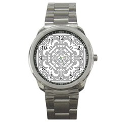 Mosaic Pattern Cyberscooty Museum Pattern Sport Metal Watch