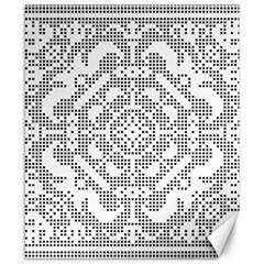 Mosaic Pattern Cyberscooty Museum Pattern Canvas 8  x 10