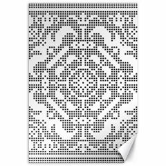 Mosaic Pattern Cyberscooty Museum Pattern Canvas 12  x 18
