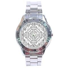 Mosaic Pattern Cyberscooty Museum Pattern Stainless Steel Analogue Watch