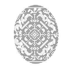 Mosaic Pattern Cyberscooty Museum Pattern Oval Filigree Ornament (two Sides)