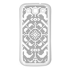 Mosaic Pattern Cyberscooty Museum Pattern Samsung Galaxy S3 Back Case (white)