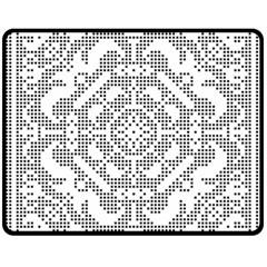 Mosaic Pattern Cyberscooty Museum Pattern Double Sided Fleece Blanket (Medium)