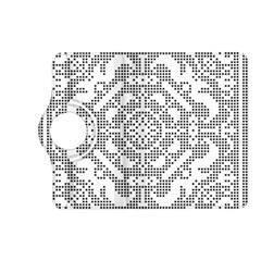 Mosaic Pattern Cyberscooty Museum Pattern Kindle Fire HD (2013) Flip 360 Case