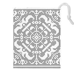 Mosaic Pattern Cyberscooty Museum Pattern Drawstring Pouches (XXL)