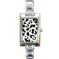Leopard Skin Rectangle Italian Charm Watch