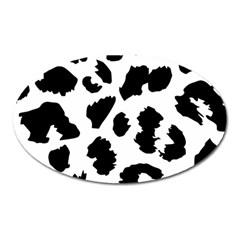 Leopard Skin Oval Magnet