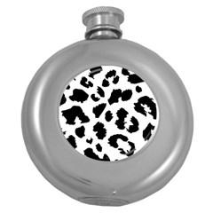 Leopard Skin Round Hip Flask (5 Oz)
