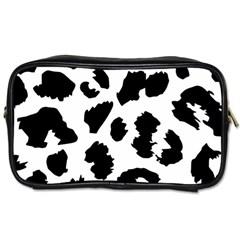 Leopard Skin Toiletries Bags 2 Side