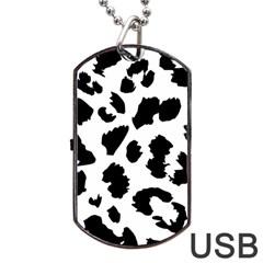Leopard Skin Dog Tag Usb Flash (two Sides)
