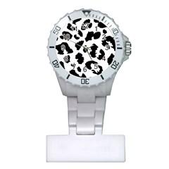 Leopard Skin Plastic Nurses Watch