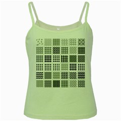 Retro Patterns Green Spaghetti Tank