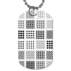 Retro Patterns Dog Tag (two Sides)