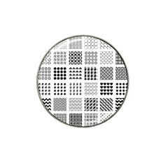 Retro Patterns Hat Clip Ball Marker (4 pack)