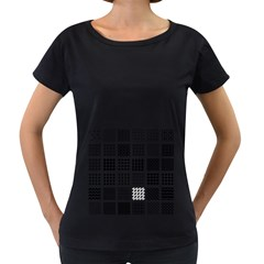 Retro Patterns Women s Loose Fit T Shirt (black)