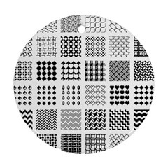 Retro Patterns Round Ornament (two Sides)